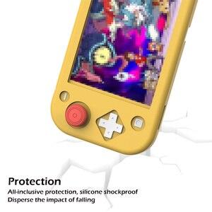 Image 4 - Силиконовый чехол для nintendo Switch Lite, розовый милый цветной чехол, задняя крышка для nintendo Switch Lite, аксессуары для игровой консоли