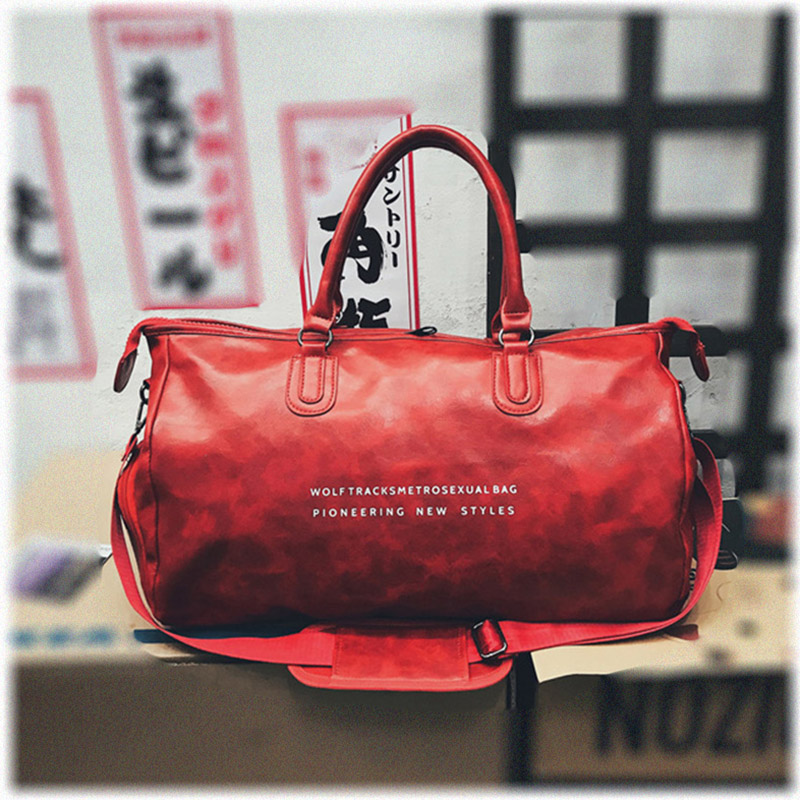 Top Quality Gym Bag Leather Lady Travel Luggage Bag Shoes Pocket Sports Bag For Women Fitness Shoulder Bag Tas Gymtas XA727WD