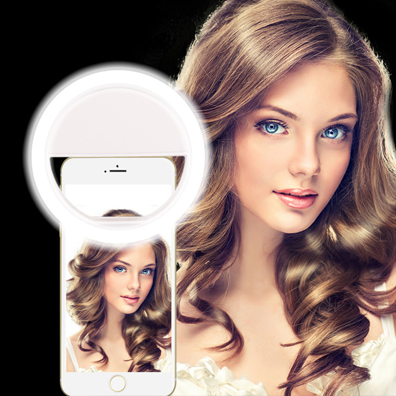 Fill Light LED Lamp Mobile Phone Selfie Ring Flash Lens Beauty Fill Light Lamp Portable Clip For Photo Camera Or Smartphone