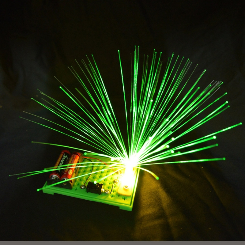 Kids Science Experiment Kits Colorful Fiber Optic Lights Educational Toy DIY L41E
