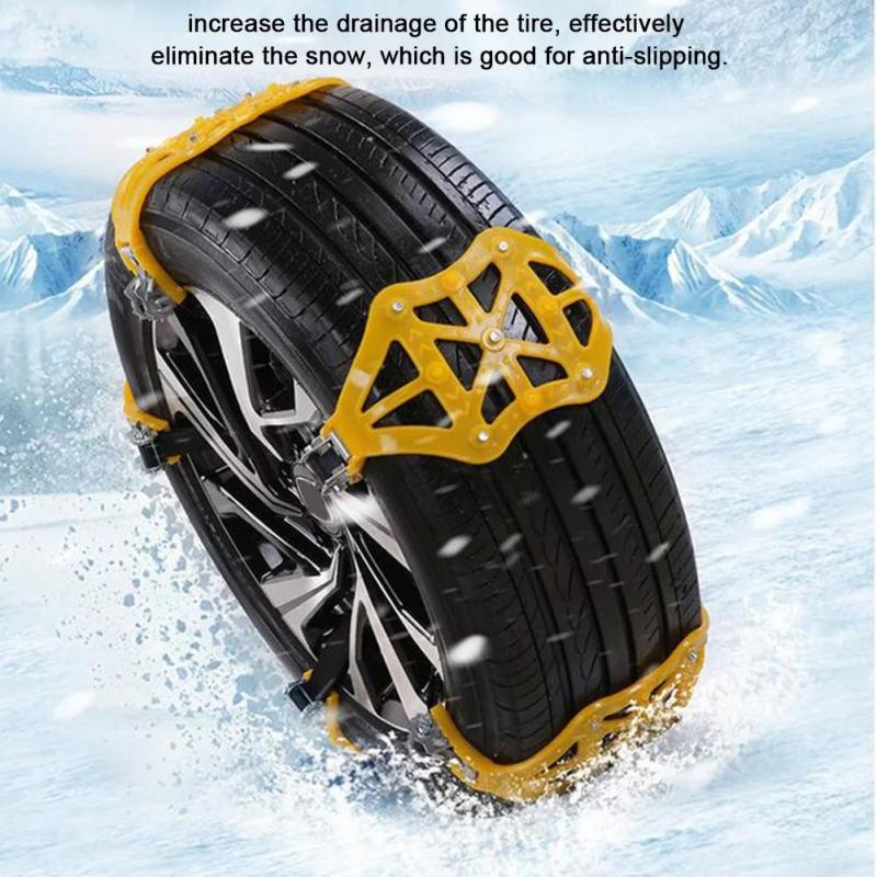 1-3pcs Winter Car Snow Chains Tires Anti Skid Chains Universal Multi-function Car Off-road Vehicle SUV Cars Snow Tire Chain