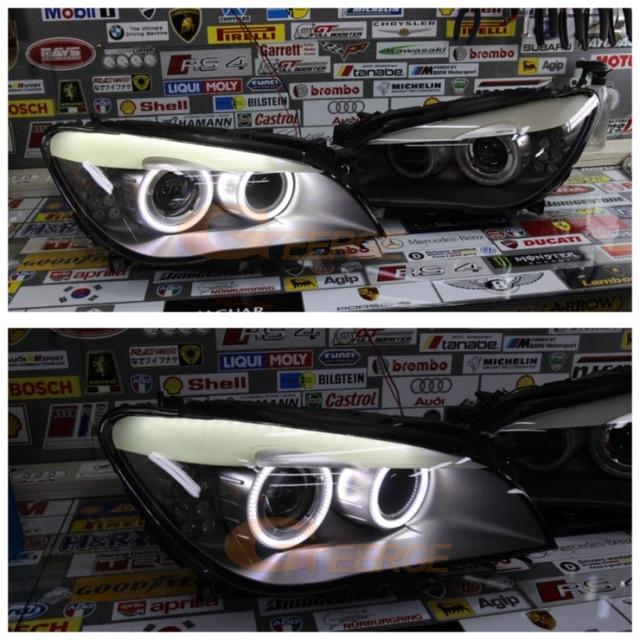 Excellents anneaux Ultra lumineux de halo dyeux dange de smd led DRL pour BMW 7 séries F01 F02 F03 F04 730d 740d 740i 750i 760i 2008-2012