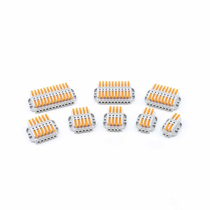 1PCS Wire Connector 2/3/4/5/6/8/10/12Pin Fast Wiring Cable Connector Conductor Terminal Block Push-in Cable Electrical Equipment image