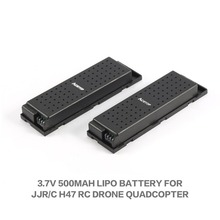 цена на 2pcs Original 3.7V 500mAh RC Airplanes Lipo Battery for JJRC H47 Drone RC Quadcopter Wifi Drone Battery RC Helicopters Batteries