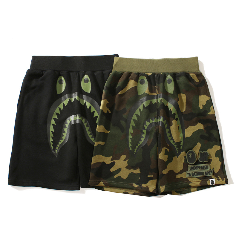 Europe And America Shark Camouflage Cotton Teenager Casual Pants Men Fashion Shorts Loose-Fit Shorts
