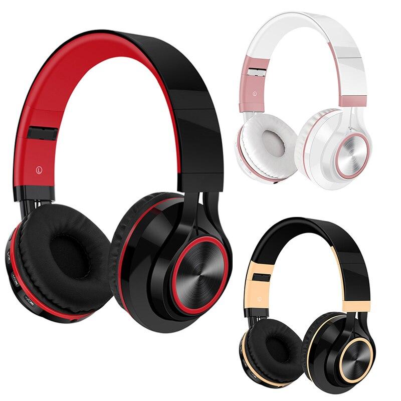 Foldable Wireless Bluetooth Headphone FM Radio SD/TF Card NFC MP3 Player Stereo Heavy Bass Headset With Mic