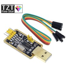 Módulo tzt ch340 em vez de pl2303 ch340g rs232 para ttl módulo de atualização usb para porta serial em nove placa de escova para arduino kit diy