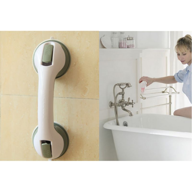 Vacuum Suction Cup Handrail For Elderly Disabled Shower Grab Bar Safety Tub Glass Door Anti Slip Handle Bathroom Accessories