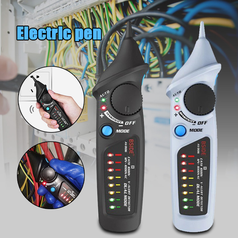 AVD06 Non-contact Voltage Detector AC 12-1000V Auto/Manual NCV Testers Live Wire Check Dual Mode Sensitivity Adjustable