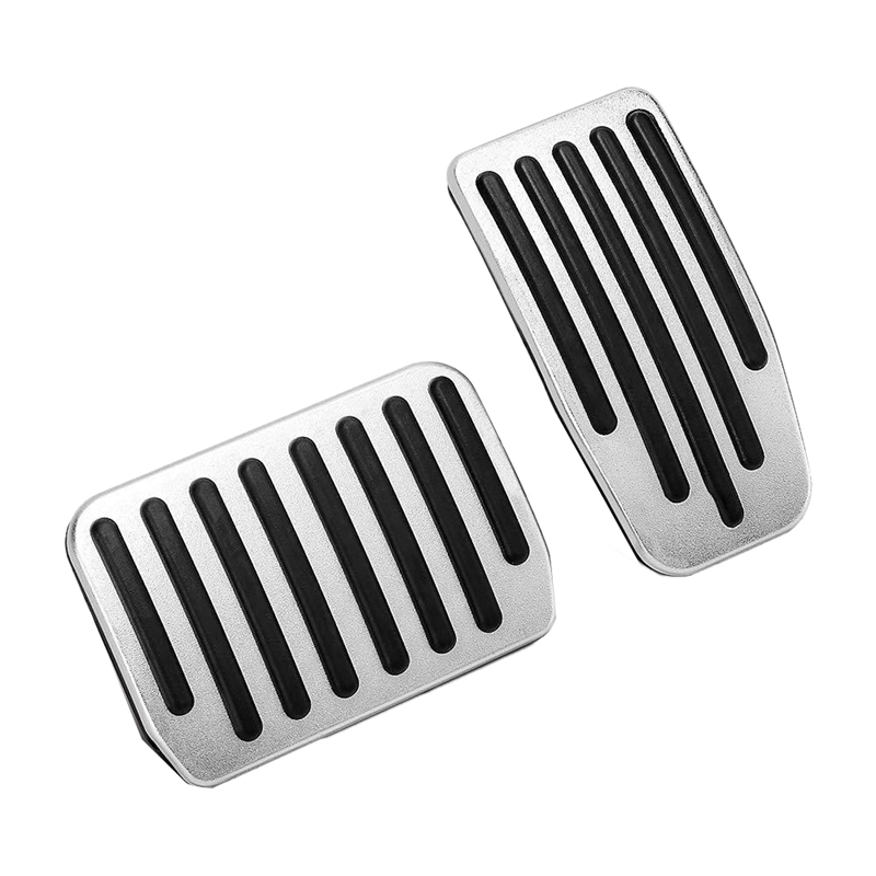 2 Pcs Non Slip Performance Aluminium Alloy Accelerator Foot Rest Modified Pedal Pads Kit For Tesla Model 3 Brake Replacement|Nerf Bars & Running Boards| |  - title=