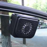 Aggiornare ABS Auto Ventilatore Solare Ventilatore Auto di Potenza Finestra Ventola di Raffreddamento Ventola di Scarico Solare con Gomma Stripping Auto Accessori