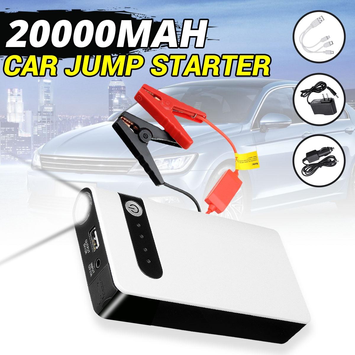 Car Jump Starter Booster Jumper Box USB Power Bank Battery Charger 12V 20000mAh Emergency Starting Device