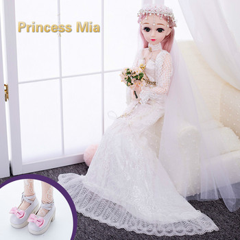60cm New fashion  doll large princess suit birthday gift with box toy single doll music toy girl Reloading Makeup princess