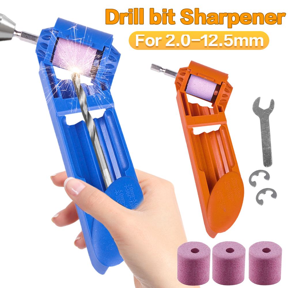 Portable Drill Bit Sharpener Corundum Grinding Wheel Tool Corundum Resisting 12