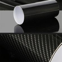 Film vinylique en Fiber de carbone 4D 5D, autocollant noir en PVC, enveloppe de voiture, pour bricolage, étanche, tous temps
