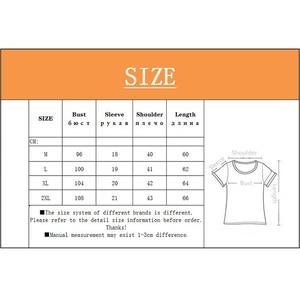 Image 5 - 夏のファッションの女性の tシャツ半袖コットンシャツ 2020 新 o ネック柄カジュアルルーズ大サイズの女性の tシャツ