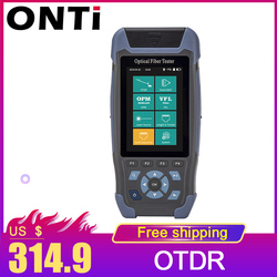 Pro mini OTDR Fiber Optic Reflectometer 980rev with 9 Functions VFL OLS OPM Event Map 24dB for 64km Fiber Cable Ethernet Tester