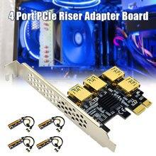 Scheda adattatore Riser PCIe a 4 porte PCI-E da 1x a 4 USB 3.0 PCI-E Rabbet GPU GDeals