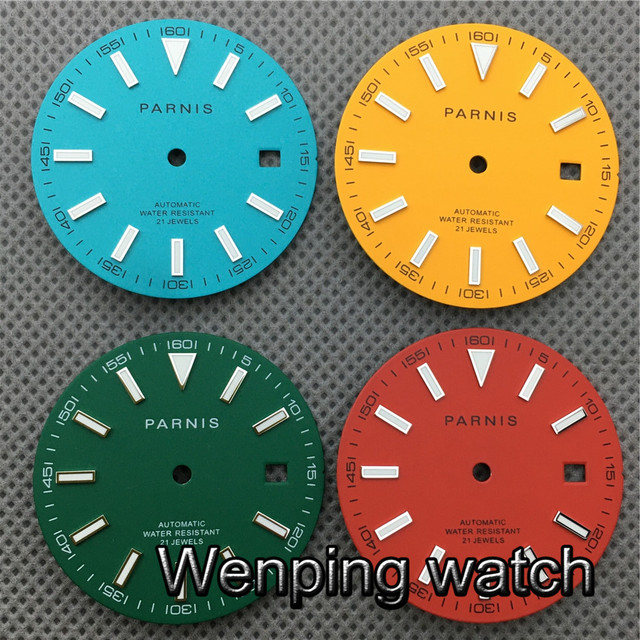 PARNIS 30.8mm Watch Dial Luminous Suitable For Miyota 8205 8215 821A,Mingzhu DG2813 3804 Seagull ST1612 Movement