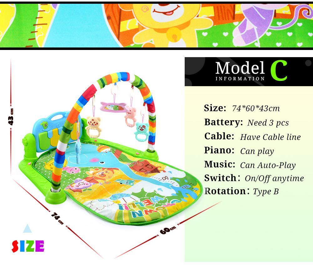 H5b8260b409054d6da614010a17be72beH 16 Styles Baby Music Rack Play Mat Kid Rug Puzzle Carpet Piano Keyboard Infant Playmat Early Education Gym Crawling Game Pad Toy