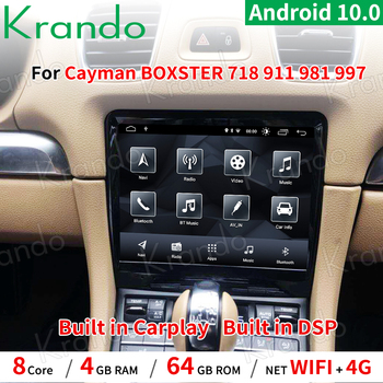 Krando Android 10.0 8.4'' car navigation for Porsche Cayman BOXSTER 718 911 981 997 2012-2016 multimedia player GPS image