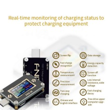 power z usb pd tester qc2 0 qc3 0 km001 voltage current ripple dual type c meter power bank high precision detector tester Type-C FNC88  PD Trigger Battery Tester USB-C Voltmeter Ammeter Voltage Current Meter Multimeter PD Recharger Battery USB Tester