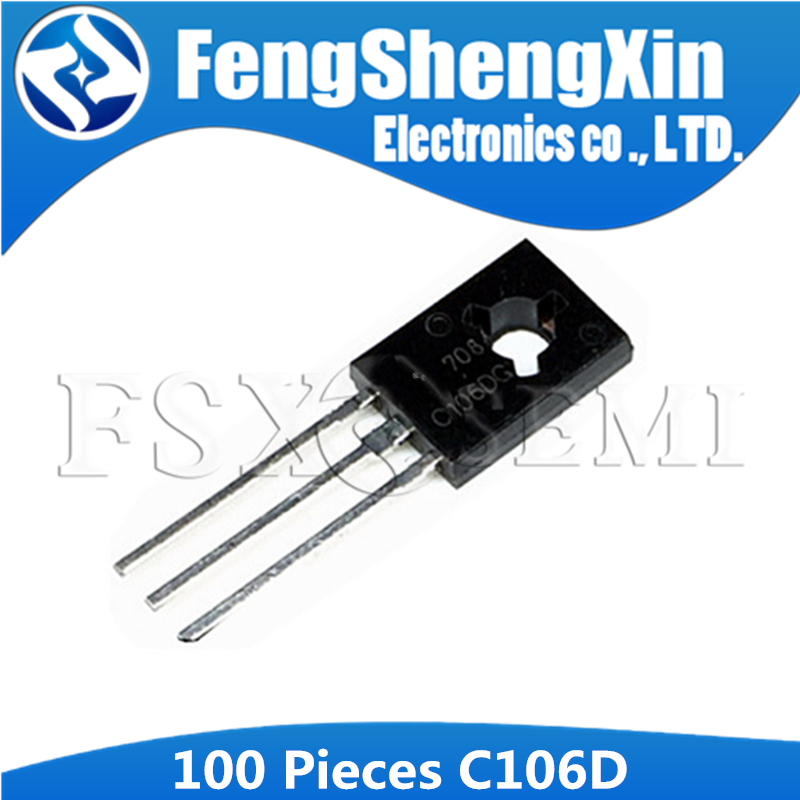 100PCS C106DG TO126 C106 TO-126 C106D 2SC106 Sensitive Gate Silicon Controlled Rectifiers image