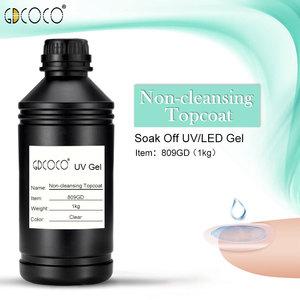 Image 1 - CANNI Supply Soak off UV/LED No Wipe Top Coat Bulk Package 1kg GDCOCO Durable Gel Nail Beauty Salon Using Base Coat Top Coat