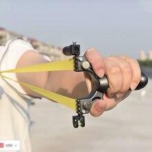 Professional Hunting Laser Slingshot With Level High Precision Instrument For Outdoor Catapult Slingshot Balls Laser Aiming