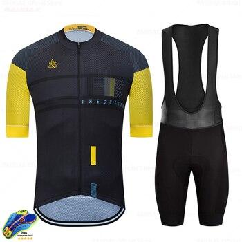 Gobikeful-Ropa deportiva para hombre, conjunto de jersey de manga corta del equipo...