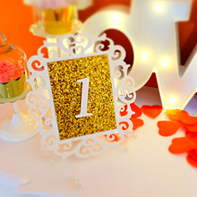 Fashion Wooden Table Numbers Wedding Table Cards Place Holder  Number Figure Card Digital Seat  Party Supplies Home Decoration sector holder place card gold silver table numbers place card holder wedding placeholders wedding table numbers
