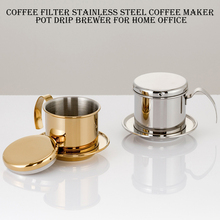 400 ml coffee machine filter coffee maker with travel mug 1set Portable Stainless Steel Coffee Drip Filter Coffee Maker Infuser Vietnam Style Coffee Mug Cup Strainer Coffee Tools #6