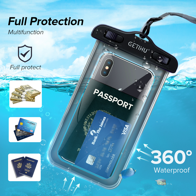 Waterproof Phone Case Swim Pouch Bag For Androids, and iPhone 3