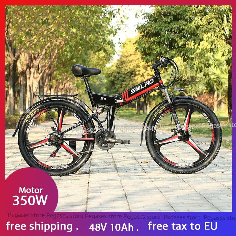48V 350W 10AH lithium-batterie elektrische fahrrad 21 Falten elektro-fahrrad Leistungsstarke Motor Berg ebike Schnee/strand e bike