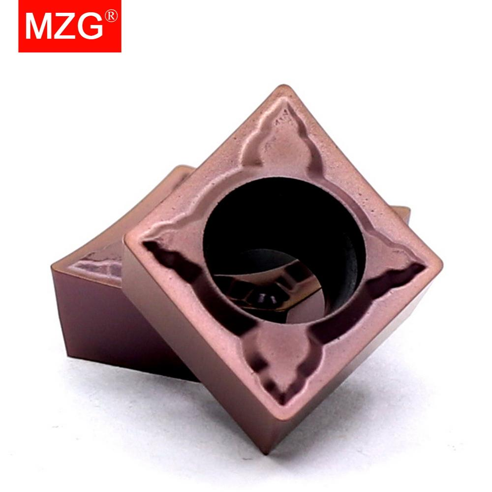 Купить с кэшбэком Free Shipping MZG CCMT060204 CCMT09T308 CCMT09T304 MSF Boring Turning CNC Stainless Steel Cutting Tools Tungsten Carbide Inserts