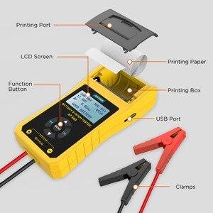Image 5 - AUTOOL BT660 stampante per analizzatore di Tester di carico per batteria per Auto 12V CCA Auto a gomito ricarica Volt Test strumento diagnostico per veicoli digitale