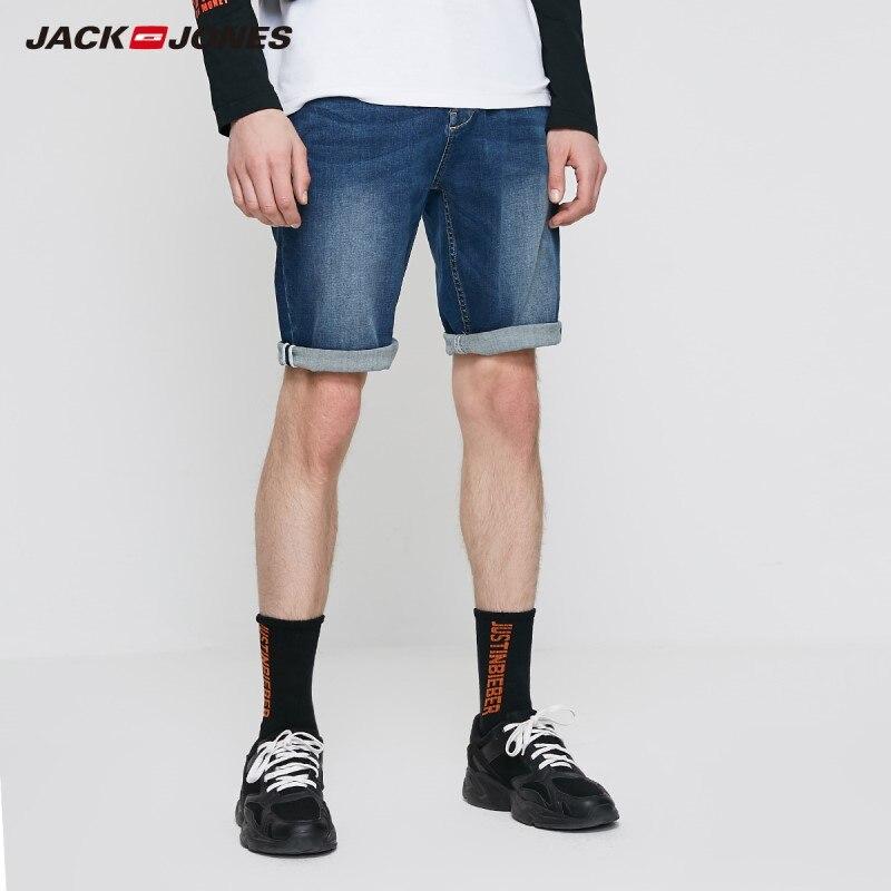 JackJones Men's Tapered Style Denim Shorts Menswear| 219243511