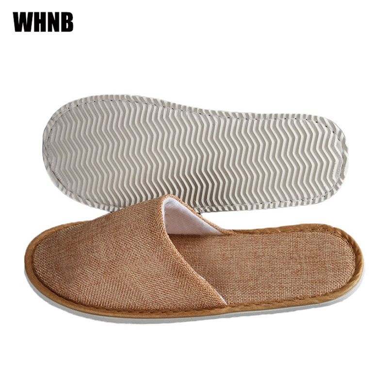 New Disposable Slippers Hotel Beauty Salon Room Linen Slippers Washable Non-slip Comfortable Couple Travel Slippers Men Slippers
