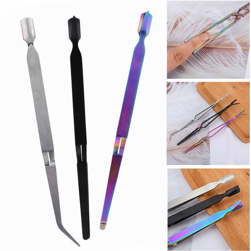 Stainless Steel C Curve Multifunctional Nail Pinching Pincher Pusher Acrylic Nail Wand Nail Shaping Clip Styling Pliers