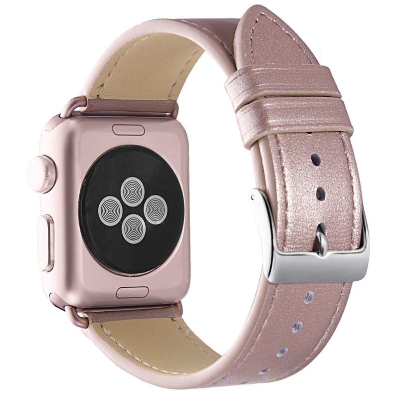 Viotoo ladies Rose Bracelet Genuine leather band strap watches for women 38mm 40mm iwatch series 1 2 3 4
