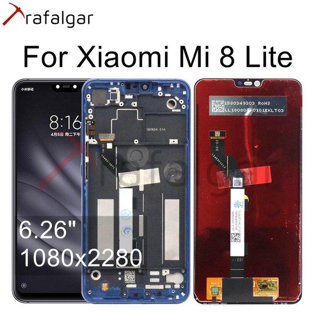 ЖК дисплей 6,26 дюйма для Xiaomi Mi 8 Lite, сенсорный экран с рамкой для Xiaomi Mi 8 Lite, сменный ЖК экран для Mi8 Lite