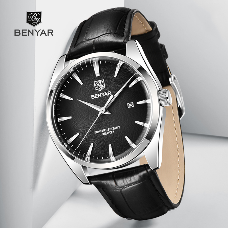Часы для мужчин BENYAR 50 м водонепроницаемые спортивные кварцевые мужские часы Топ люксовый бренд Модные наручные часы relogio masculino|Кварцевые часы|   | АлиЭкспресс