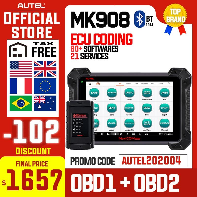 Otomobiller ve Motosikletler'ten Motor Analizörü'de Autel MaxiCOM MK908 otomatik teşhis tarayıcı Autel MK908 PK MK908P MaxiSys Elite MS908 ECU programlama ile J2534 OBD 2 OBD2 otomatik title=