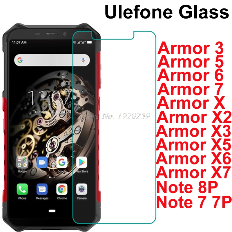 Ulefone Armor 3 3T 3W 3WT 5 5S 6 6E 6S 7E X X2 X3 X5 X6 X7 Pro Glass Screen Protector Front Glass For Ulefone Note 7 7P 8P Glass(China)