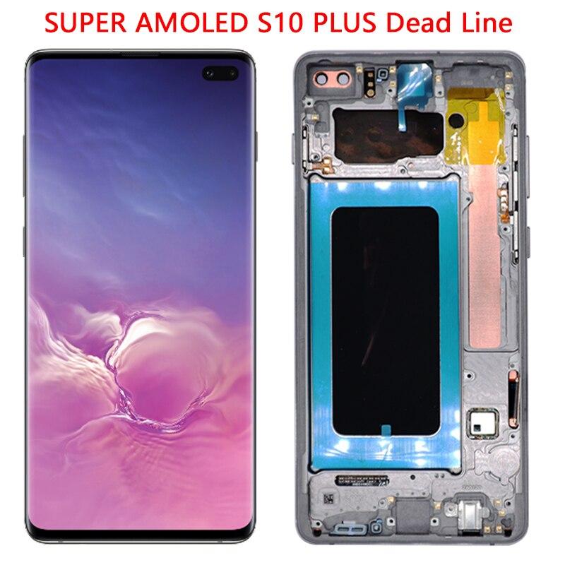 Супер AMOLED G975 LCD для Samsung S10 Plus ЖК дисплей сенсорный экран с рамкой в сборе для S10 Plus G975 G975F ЖК Ремонт|Экраны для мобильных телефонов|   | АлиЭкспресс