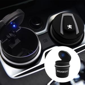 Автомобильная пепельница светодиодный светильник бездымного авто пепельница огнестойкий мундштук коробка для Peugeot 206 308 307 207 208 3008 407 508 2|Пепельница в авто|   | АлиЭкспресс