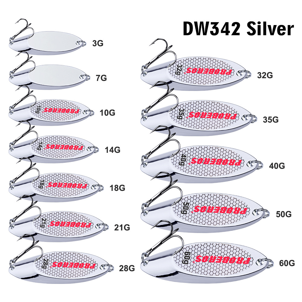 Shiner <font><b>Metal</b></font> Fishing Lures 3g-<font><b>60g</b></font> Fish Hard Spoon Silver Baits Fishing Food In The River Sea And Lake Luya Micro <font><b>Jig</b></font> image