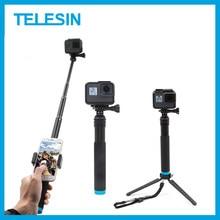 TELESIN 6 in 1 Erweiterbar Aluminium Legierung Selfie Stick + Abnehmbare Stativ Montieren Telefon Halter für GoPro SJCAM Xiaomi Yi kameras