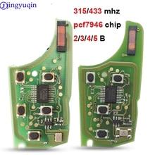 Jingyuqin placa de circuito remota, placa de circuito eletrônica de alarme para chave remota de carro 315/434mhz 10p para chevrolet malibu cruze aveo spark vela 2/3/4/5 botão