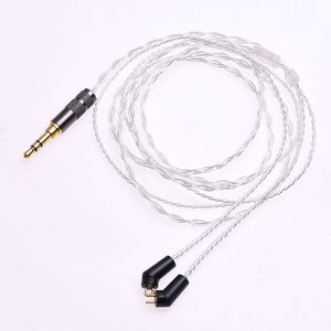 Image 2 - 1.2m (4ft) 5N OCC Silver Plated Headphone Upgrade Cable for Etymotic ER4P ER4B ER4S HiFi Cable 2Pin Plug